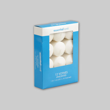 Essential Home Unscented White Candles