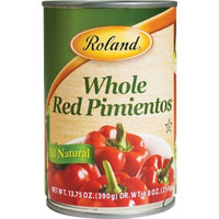 Roland Whole Red Pimientos, 13.75-Ounce Cans (Pack of 24)