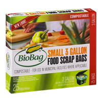 BioBag Compostable Small 3 Gallon Food Scrap Bags - 25 CT