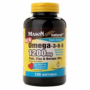 Mason Natural Omega 3-6-9 1200mg Fish