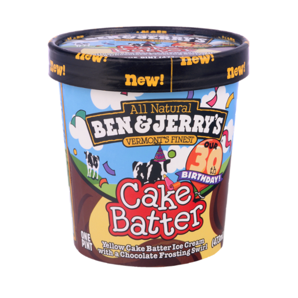 Ben & Jerry's® All Natural Vermont's Finest Cake Batter Ice Cream