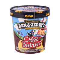 Ben & Jerry's All Natural Vermont's Finest Cake Batter Ice Cream