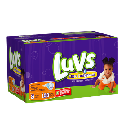 Luvs with Ultra Leakguards Big Pack Size 3 Diapers 108 Count?
