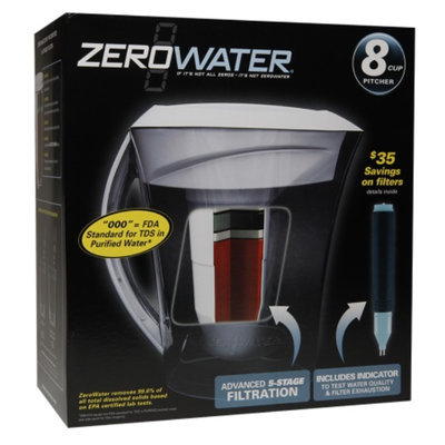 ZeroWater Water Filtration Pitcher, 8 cup