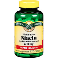 Spring Valley Dietary Supplement Flush Free Niacin 120 CT