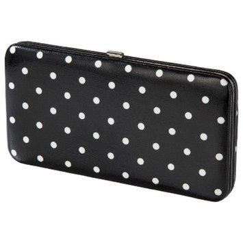 Merona Polka Dot Hinge Wallet - Black