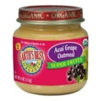 Earth's Best Earths Best Organic Acai Grape Oatmeal Super Fruits for Second Stage, 4 Ounce -- 12 per case.