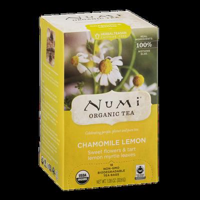 Numi Organic Tea Chamomile Lemon Tea Bags - 18 CT