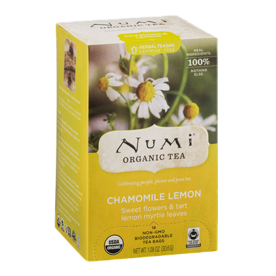 Numi Organic Tea Chamomile Lemon Tea Bags - 18 CT