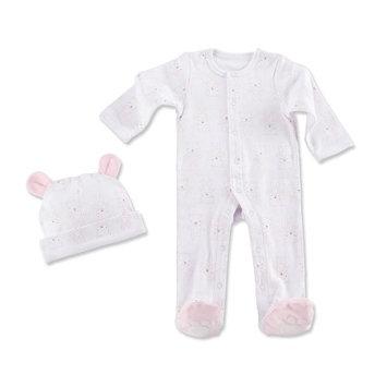 Baby Aspen Girls Beary Sleepy Baby Pajama Gift Set - Pink