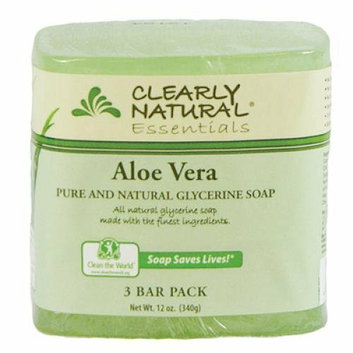 Clearly Naturals Clearly Natural Bar Soap Aloe Vera 3 Pack 4 oz