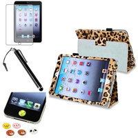 Insten iPad Mini 3/2/1 Case, by INSTEN Black/Brown Leopard PU Leather Folio Case Sleep Wake For Apple iPad Mini 1st 2nd 3rd