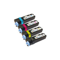 LD Compatible Dell 2135cn & 2130cn Set of 4 High Yield Toner Cartridges: 1 Black T106C, Cyan T107C, Magenta T109C, Yellow T108C