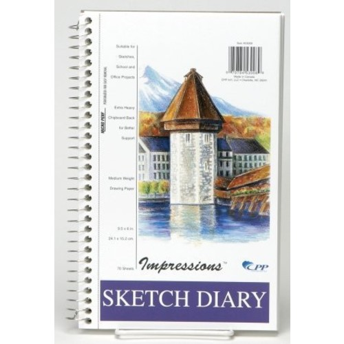 CPPInternational Carolina Pad - Cpp 53008 9.5 in. x 6 in. Impressions Portable Sketch Diary - Pack of 6