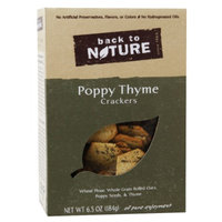 Back to Nature Poppy See And Thyme Crackers, 6.5 oz