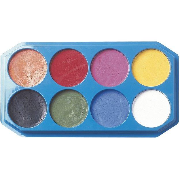 Alvin 1194040 Face Painting Palette 8 Col 18 Milliliter