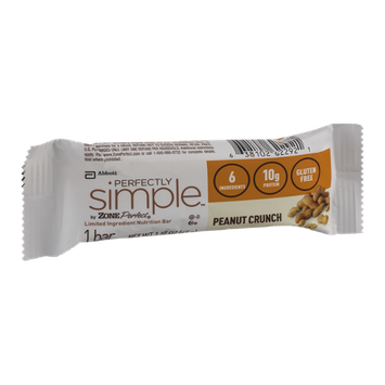 Perfectly Simple by Zone Perfect Nutrition Bar Peanut Crunch
