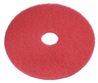 TOUGH GUY 6YAA3 Recycled Buffing Pad,20 In, Red, PK5
