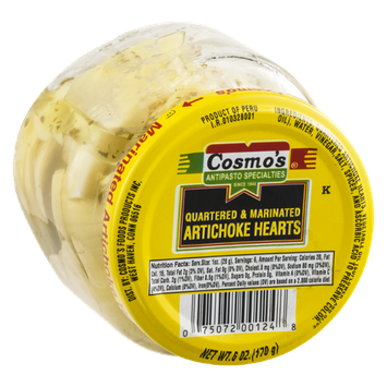 Cosmo's Quartered & Marinated Artichoke Hearts