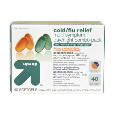 Up & Up Day/Night Cold/Flu Relief Softgel 40-pk