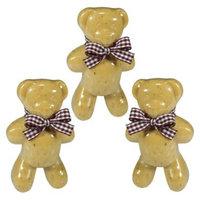 Set of 3 Teddy Bear Soaps - Honey/Oatmeal