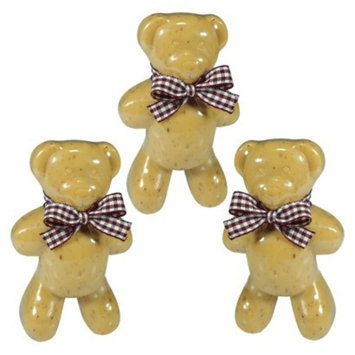 Set of 3 Teddy Bear Soaps - Honey/Oatmeal