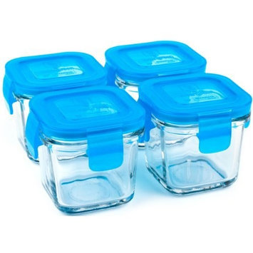 Wean Green Wean Cubes 4oz/120ml Baby Food Glass Containers - Blueberry (Set of 4)