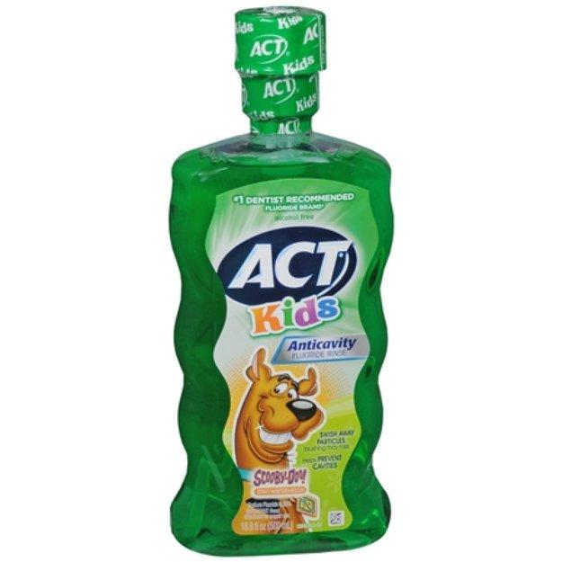 ACT Kids Scooby-Doo Anti-Cavity Rinse Kiwi-Watermelon