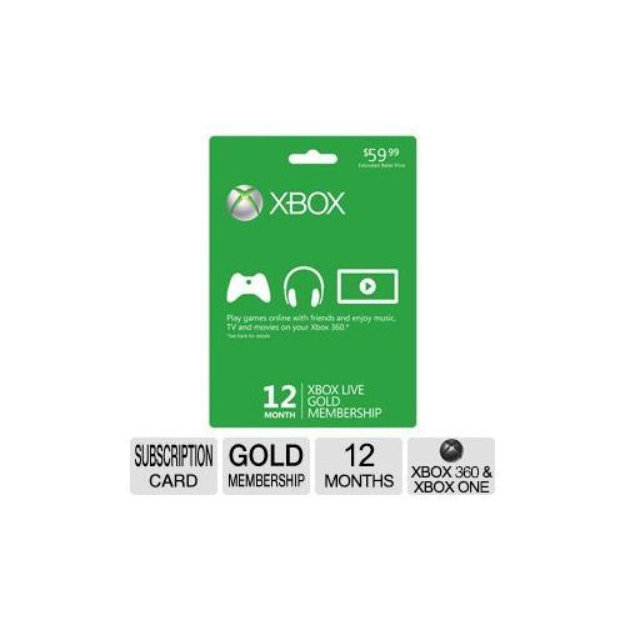 Microsoft Xbox Live Gold Membership - 12 Month (Xbox One/Xbox 360)
