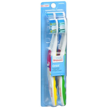 Walgreens Orbit Toothbrush, Soft, Full, 4 ea