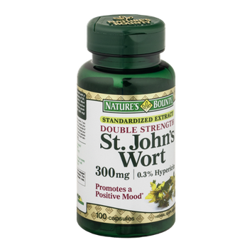 Nature's Bounty St. John's Wort Standardized Extract Double Strength Capsules 300 mg - 100 CT