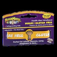 AllerMates Health Alert Wristband Wheat/Gluten Free