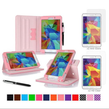 rooCASE Samsung Galaxy Tab 4 7.0 SM-T230 Tablet Case - Dual View Multi-Angle Stand Cover Pen Stylus with 4-Pack (2 Anti-Glare Matte & 2 HD Clear) Screen Protectors for Tab4 7