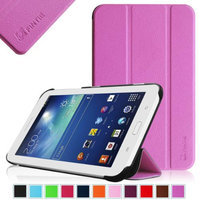 Fintie Slim Shell Case Cover Ultra Slim Lightweight Stand for Samsung Galaxy Tab 3 Lite 7.0 Tablet, Violet