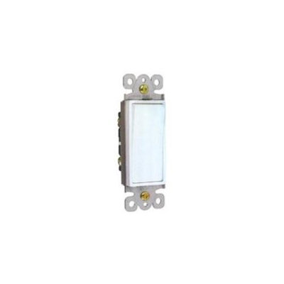 Morris Products 82101 Garbage Disposal Decorator Switch White Momentary Contact 15A 120-277V