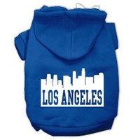 Mirage Pet Products Los Angeles Skyline Screen Print Pet Hoodies Blue Size Sm (10)