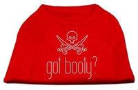 Mirage Pet Products 5234 XSRD Got Booty? Rhinestone Shirts Red XS 8