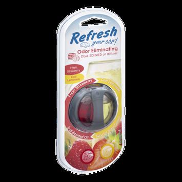 Refresh Fresh Strawberry/Cool Lemonade Dual-Scented Car Oil Diffuser