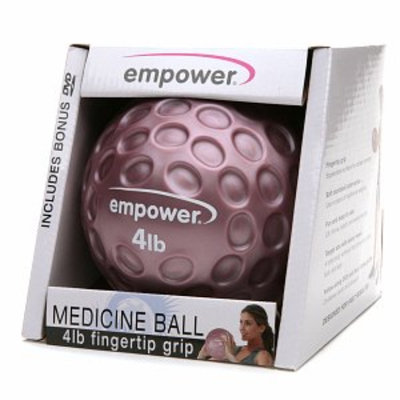 empower 4 lb Fingertip Grip Medicine Ball & DVD