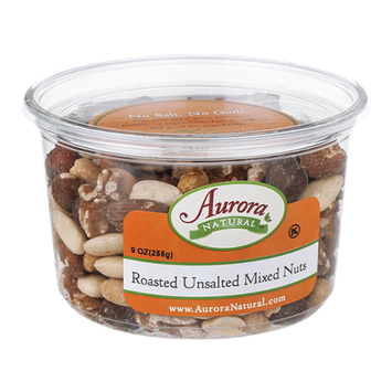 Aurora Natural Roasted Unsalted Mixed Nuts