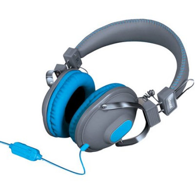 Isound Dghm-5519 Hm260 Dynamic Stereo Headphones With Microphone [gray/blue]
