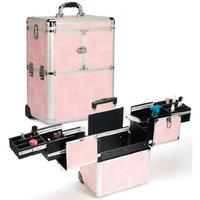 Seya Pink Snakeskin Hairstylist Rolling Case