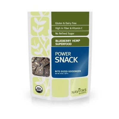 Navitas Naturals Organic Blueberry Hemp Superfood Power Snack , 8-Ounce Pouches []