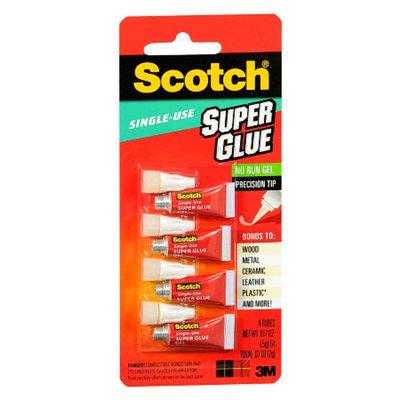 3M Scotch Single Use Super Glue Gel 4 Pack
