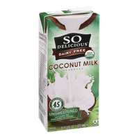 So Delicious Dairy Free Coconut Milk Beverage Unsweetened