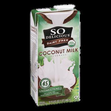So Delicious Dairy Free Coconut Milk Beverage Unsweetened