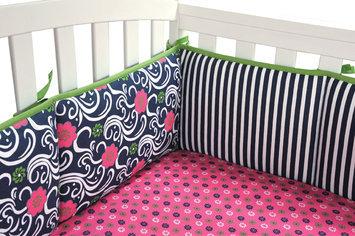 Test Trend Lab Lucy Crib Bumper Set Blue/Pink