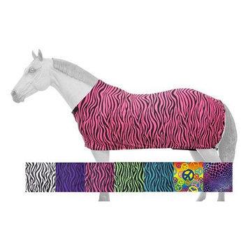 Tough-1 Fleece Lined Full Lycra Sheet in Prints Large Neon Green Zebra