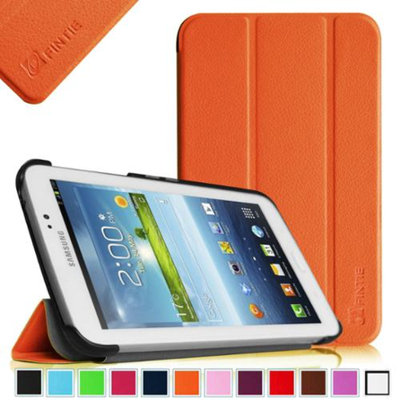 Fintie Samsung Galaxy Tab 3 7.0 Case Cover - Ultra Slim Lightweight Stand Smart Shell, Orange