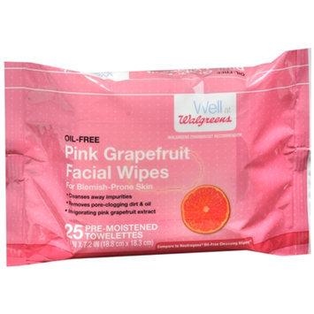 Walgreens Facial Wipes, Pink Grapefruit, 25 ea